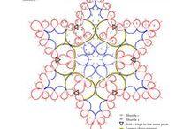 Фриволите - Мотивы / Снежинки, отдельные мотивы разных форм