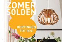 Zomer SOLDEN! / Geniet deze zomer van de beste verlichting voor de beste prijs, kortingen tot wel 80%! Bekijk snel ons enorm aanbod koopjes op lampenlicht.be!