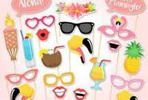 Photo Props / Photo Props, Photo Booths and fun crafts for photo ideas for your tropical party.