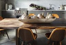 Kitchen Trend 2014: Raw Materials / A big trend for 2014 is bringing natural textures and tones into the kitchen, from driftwood dining tables to exposed brick back splashes and concrete worktops. The look is industrial yet warm and full of character...