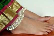 Anklet - The Jingling Jewel / Anklet, which in India is commonly known as 'Payal' is a piece of ornament worn by females around their ankles . It resembles a bracelet or a chain meant to enhance the beauty of the female ankle.  Traditional anklets are made mostly of silver. They are made of tying silver links in chain, with small trinkets attached to them, so that the wearer can make pleasing sounds while walking.
