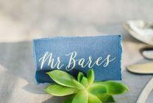 Mariage // Plan de table et marque place / Plan de table mariage