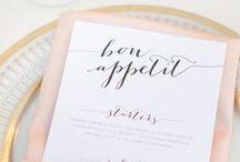 Mariage // Menus / Wedding menu