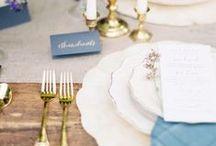 Mariage // Sur la table / Centres de table, décoration, assiettes