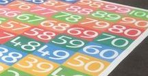 Number Grids & Games Playground Markings / Thermoplastic playground markings for schools and nurseries that enhance learning through games and activity