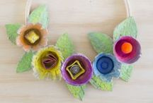 Earth-friendly Upcycled Crafts / Crafts using recycled materials like toilet paper rolls, egg cartons, cardboard boxes and more! Perfect for Earth Day and every day! / by PagingSupermom.com