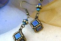 bead earrings, pedants, etc. / by Magda Skalska-Zep