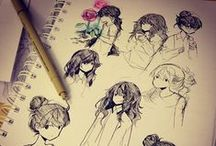 """drawings / sketches / so this wall is about other people cool drawings or sketches mostly of humans ^_^ i like to draw but i never can find time for that, i think that a little bit of my """"talent"""" are going to be wasted...maybe i should try draw again? .__. (wall include pictures, tutorials and tips)"""
