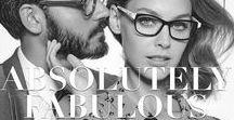 Absolutely Fabulous • FW16 / Zet maar op als je durft! Een look voor lefhebbers en fashionista's. We zien veel zwart-wit en rood, grafische prints en opvallende montuurvormen. Niks basic, gewoon knallen. Wedden dat iedereen je bewonderend nakijkt met je nieuwe bril?