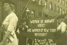 Women's suffrage in Norway 1913-2013 / The first sovereign state in Europe to extend voting rights to women was Norway in 1913. This board celebrates the 100. anniversary with pictures related to female suffrage movements from all over the world.