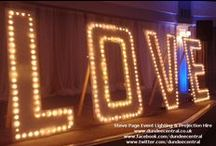 Wedding Lighting Hire / Wedding Lighting hire provided by Steve Page Lighting Hire, Dundee, Scotland: www.dundeecentral.co.uk