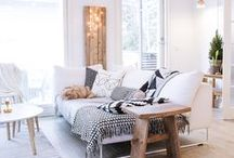 white and white living rooms / White in the home is anything but basic. A quick way to update your home is with a Comfort Works custom slipcover <3