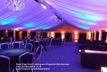 Kinnettles / Lighting hires at Kinnettles House Hotel near Forfar, Angus, Scotland