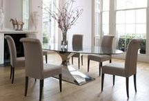 Dining tables / Our dining tables come in three different shapes - rectangular, oval, and round. As well as making perfect dining and kitchen tables, they are also well suited to conservatories and some can be used as desks, or even as boardroom tables.  Almost all of our tables can be custom made to your specifications, and we can also supply different materials for the tops - for example wood, stone, marble or granite.