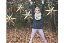 Wearing Your Happy Pants / People wearing their Superfun Yoga Pants.  Their way.