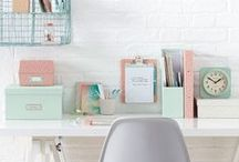 Creative Space / Create a workspace that is inspiring, functional and packed with great storage! Home office, study, studio space, desk, craft storage, planner supplies, craft room, office space, office furniture, home decor.