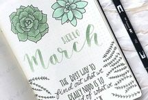 Bullet Journal Ideas / Bullet journal, bullet journaling, bullet journal ideas, bullet journal illustration ideas, bullet journal layout ideas, planning, planners, productivity, bullet journal doodling, bullet journal drawing, art, inspiration, bullet journal spreads, weekly log, daily log, future log, bullet journal collection ideas, bullet journal printables
