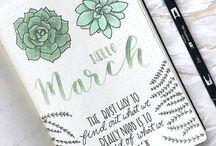 Bullet Journal Ideas / Bullet journal, bullet journaling, inspiring ideas, illustration ideas, bullet journal layout ideas, planning, planners, doodling, drawing, art, inspiration, bullet journal spreads