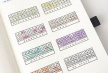 Bullet Journal Trackers / Bullet journal, bullet journaling, bullet journal trackers, tracking, Mood trackers, habit tracker, bullet journal tracker ideas, inspiration, food trackers, fitness trackers, work trackers, hobby trackers, habits, wellness, wellbeing, bujo tracker ideas, bujo mood trackers