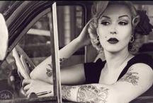 Red lips & Victory rolls
