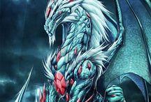 Animals and dragon