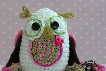 owls knitting crochet tricot felts