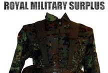 Military & Tactical Kits / The MILITARY & TACTICAL KITS Section presents Complete BDU, Camouflage Kits and Military Tactical Layouts used by Army/Military/Special Forces around the World (USA, Canada, United Kingdom, Germany, France, Russia, Italy, NATO, International Military & Security Forces). Use this Military Kits Section to start your own personalized Setup or choose within our large selection of Military & Tactical Complete Kits. Visit our Website at www.royalmilitarysurplus.com