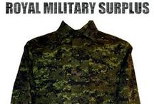 Military Uniforms & Clothing / The UNIFORMS & CLOTHING Section presents the Most Populars Complete BDU, Camouflage Shirts & Pants and Tactical Uniforms used by Army/Military/Special Forces around the World (USA, Canada, United Kingdom, Germany, France, Russia, Italy, NATO, International Military & Security Forces). Use this Uniforms Section to start your own personalized Setup or choose within our large selection of Military & Tactical Complete Uniforms. Visit our Website at www.royalmilitarysurplus.com