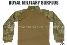 Military & Tactical Shirts / The SHIRTS & COATS Section presents BDU Shirts, Combat Shirts and Tactical Combat Shirts used by Army/Military/Special Forces of USA, Canada, United Kingdom, Germany, France, Russia, Italy, NATO, International Military & Security Forces. Visit our Website at www.royalmilitarysurplus.com