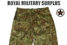 Military Pants & Trousers / The PANTS & TROUSERS Section presents BDU Pants, Combat Pants and Tactical Pants used by Army/Military/Special Forces of USA, Canada, United Kingdom, Germany, France, Russia, Italy, NATO, International Military & Security Forces. Visit our Website at www.royalmilitarysurplus.com