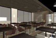 Visuals interieurprojecten / De interieurarchitecten van Thomassen Interieurs maken in het ontwerptraject gebruik van digitale 3D technieken om hiermee het ruimtelijk inzicht van de ontwerpen te verkrijgen.