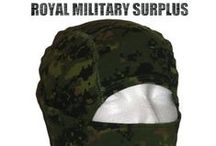 Military Balaclava / Hoods / The BALACLAVA & HOOD Section presents 1-Hole Face Mask, 3-Holes Face Mask, Ninja Style Hood and Adaptive Balaclava System used by Army/Military/Special Forces of USA, Canada, United Kingdom, Germany, France, Russia, Italy, NATO, International Military & Security Forces. Visit our Website at www.royalmilitarysurplus.com