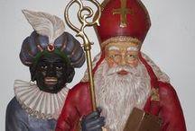 Sinterklaas Etalage / kleine collectie uit mijn verzameling 'etalage' decoratie materiaal