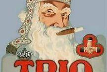Sinterklaas rookwaar sigaretten sigaren / kleine collectie uit mijn verzameling en gepinde sigarenbandjes, sigarettendoosjes, advertenties ...