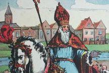 Sinterklaas - Illustraties / Mooie illustraties van St. Nicolaas / Sinterklaas met zijn Pieterbaas