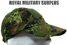 Tactical & Field Caps / The FIELD & TACTICAL CAPS Section presents Military Caps in many Styles, Designs and Military Camouflage Patterns used by Army/Military/Special Forces of USA, Canada, United Kingdom, Germany, France, Russia, Italy, NATO, International Military & Security Forces. Visit our Website at www.royalmilitarysurplus.com