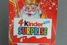 Sinterklaas Saint Nicholas 'Kinder Surprise' / kleine collectie uit mijn verzameling en gepinde  Sinterklaas 'Kinder Surprise'