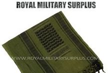 Military Shemags & Scarves / The SHEMAGH & SCARF Section presents Military Shemagh, Military & Tactical Scarves and Bandanas used by Army/Military/Special Forces of USA, Canada, United Kingdom, Germany, France, Russia, Italy, NATO, International Military & Security Forces. Visit our Website at www.royalmilitarysurplus.com
