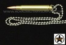 Military Dog Tags & Necklaces / The DOG TAGS & PENDANTS Section presents Dog Tags from International Armies and Military Style Pendants used by Army/Military/Special Forces of USA, Canada, UK, Germany, France, Russia, Italy, NATO, International Military & Security Forces. Visit our Website at www.royalmilitarysurplus.com