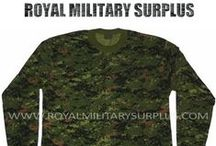 Military T-Shirts & Tank Tops / The T-SHIRTS & TANK TOPS Section presents T-Shirts, Long Sleeves Shirts and Tank Tops used by Army/Military/Special Forces of USA, Canada, United Kingdom, Germany, France, Russia, Italy, NATO, International Military & Security Forces. Visit our Website at www.royalmilitarysurplus.com