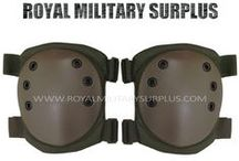 Military Knee & Elbow Pads / The KNEE & ELBOW PROTECTION Section presents Military Knee & Elbow Protectors in many Styles, Designs and Military Camouflage Patterns used by Army/Military/Special Forces of USA, Canada, United Kingdom, Germany, France, Russia, Italy, NATO, International Military & Security Forces.  Visit our Website at www.royalmilitarysurplus.com