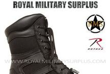 Military & Tactical Boots / The COMBAT BOOTS & FOOTWEAR Section presents Jungle Boots, G.I. Boots, Mountain Boots, Tactical & Commando Boots and Footwear used by Army/Military/Special Forces of USA, Canada, United Kingdom, Germany, France, Russia, Italy, NATO, International Military & Security Forces. Visit our Website at www.royalmilitarysurplus.com