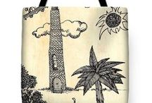 "Tote Bags / Featuring my Tote Bags at http://carolyn-weltman.artistwebsites.com/. The Tote Bags are made from soft, durable, poly poplin fabric and include a 1"" thick black shoulder strap for easy carrying. Tote bags are available in three different sizes from 13"" x 13"" up to 18"" x 18"". Each tote bag is printed on both sides using the same image and can be machine-washed with cold water."