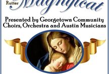 FREE CONCERT: Rutter Magnificat / December 9, 2017, 4:00 PM 5404 Williams Drive, Georgetown, TX 78633  FREE AND OPEN TO THE PUBLIC  A vibrant realization of the song of Mary, Rutter's Magnificat celebrates the coming of Christ into the world.   Experience the energy of the season in joyful song and full instrumental flourish, presented to you by combined Georgetown choirs and a professional Chamber orchestra.