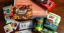 Influenster Feast VoxBox / Thank you to #Influenster for the #complimentary #FeastVoxBox with awesome products from #Arnotts  #TimTamBiscuits #BigelowTea #CountryCrock #DelMonte and #Frenchs