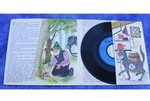 Anciens disques vinyles pour enfants