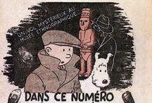 """Le petit """"vingtième"""" - couvertures Hergé / Les """"petit vingtième"""" ont paru de 1929 à 1940."""