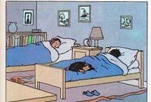 Tintin - Jo et Zette - les intérieurs de Hergé