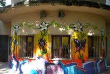 III Edición de Graffiti sobre pared. Semana Joven de Sigüenza 2014. / El miércoles, 23 de julio, volvemos a decorar el patio exterior del centro joven con un graffiti hecho por la juventud seguntina.