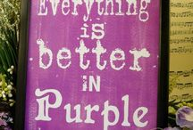 Hooked on Purple / I love all shades of purple. It just draws me in!